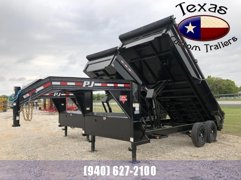 "2021 PJ Trailers 16'x83"" Gooseneck Low Pro Dump Trailer"