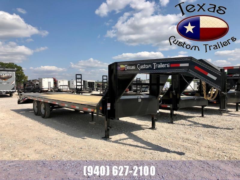 "2021 East Texas 102""X25' Gooseneck HD Deck Over 14K Flatbed/Equipment Trailer"