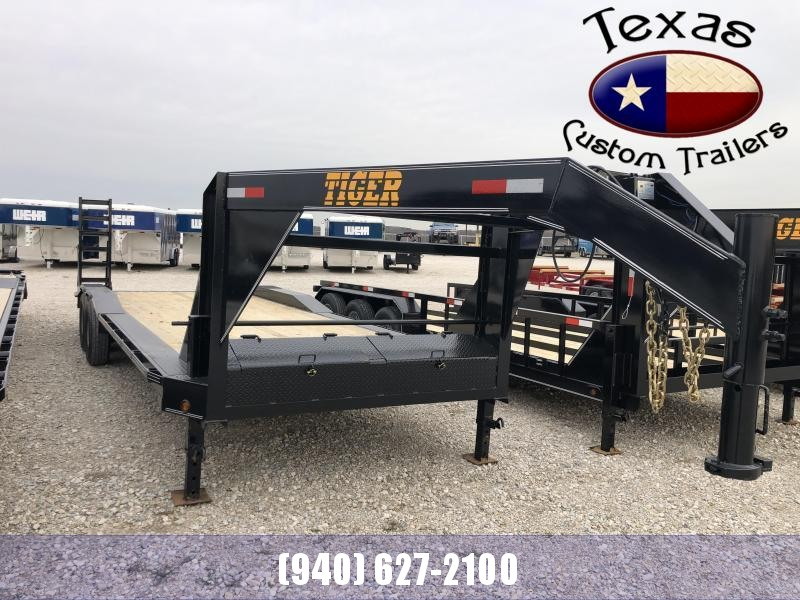 "2021 Tiger 102"" X 24' Gooseneck Lowboy Flatbed/Equipment Trailer"