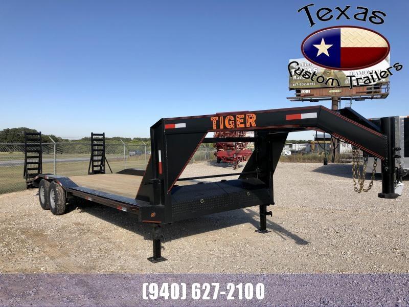 "2022 Tiger 102"" X 24' Gooseneck Lowboy Flatbed/Equipment Trailer"