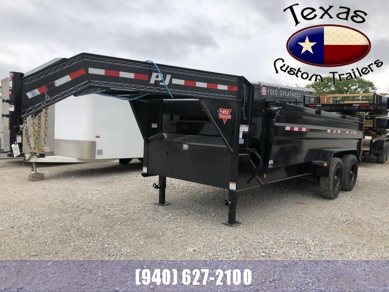 2021 PJ Trailers 16' Gooseneck HD Low-Pro Dump Trailer