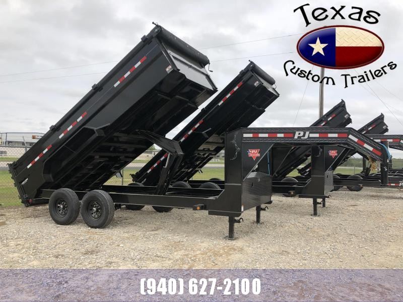 "2021 PJ Trailers 16'x83"" Gooseneck Low Pro High Side (DM) Dump Trailer"