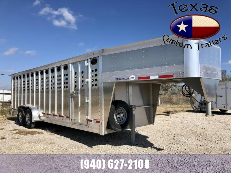 2020 EBY 24' MAVERICK PUNCH-SIDE GOOSENECK LIVESTOCK TRAILER