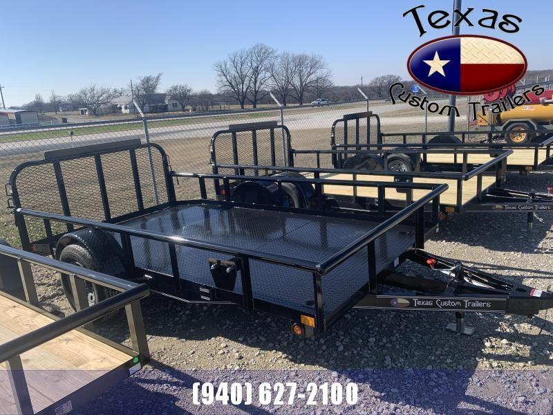 2021 East Texas 77X12 Single Axle 3K Utility Trailer with Steel Floor