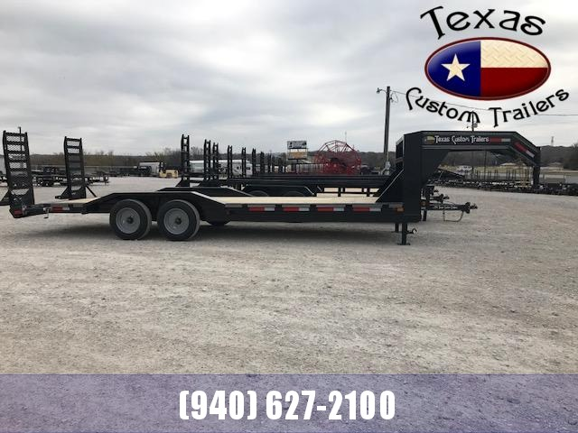 "2021 East Texas 102""X24' Gooseneck Low Boy 14K Equipment Utility Trailer"