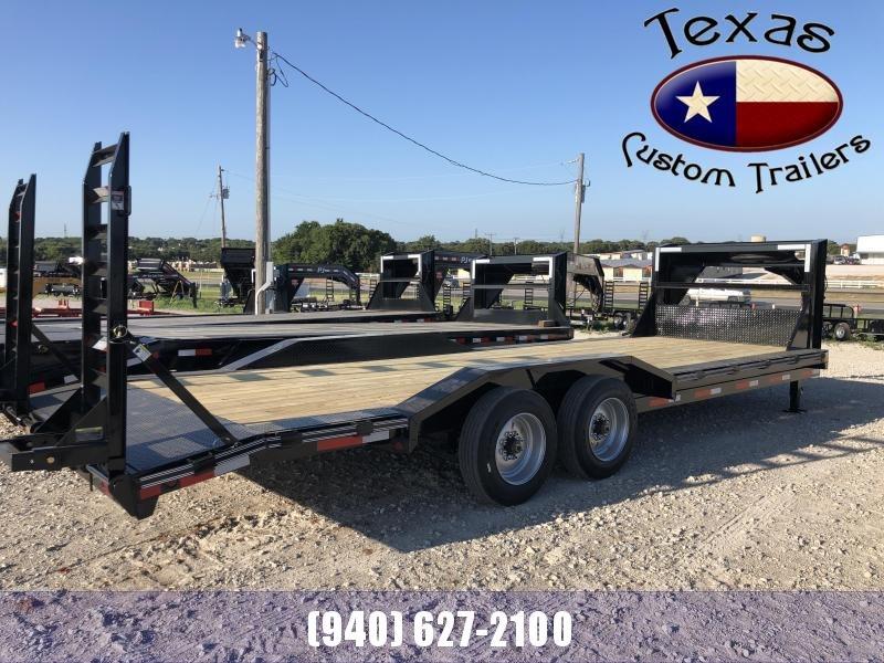 "2021 East Texas 102""X24' Gooseneck Low Boy 16K Equipment Utility Trailer"