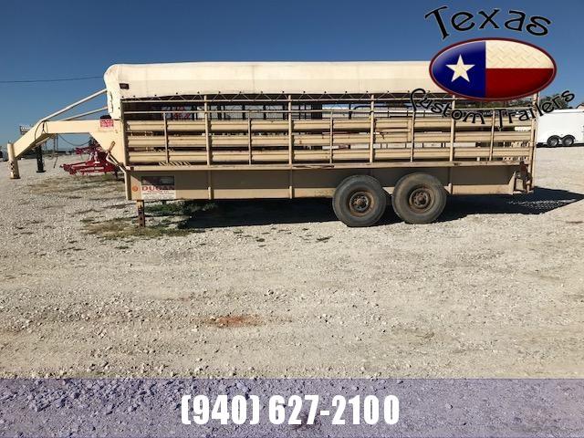1982 USED 6x20 Dugan Gooseneck Livestock Trailer