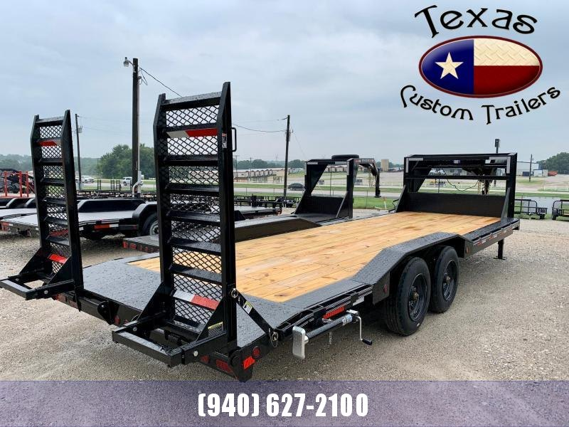 "2022 East Texas 102""X24' Gooseneck Low Boy 16K Flatbed/Equipment Trailer"