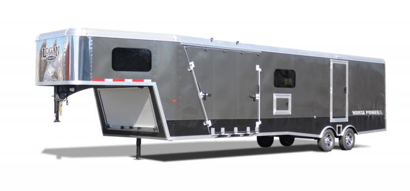 2020 Logan Coach 29' ZBROZ GN HorsePower Snowmobile Trailer