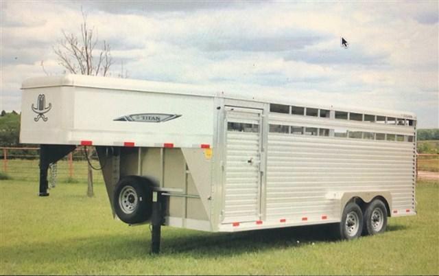 2020 Titan Aluminum Livestock Trailer