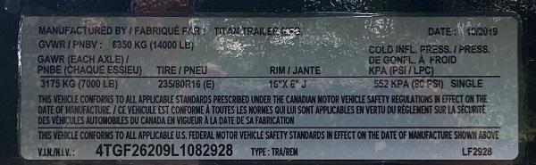 2020 Titan Trailers Ruffneck Flatbed Trailer