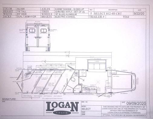 2022 Logan Coach 4 Horse Select Horse Trailer