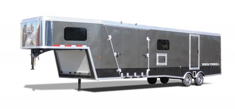 2022 Logan Coach 29' ZBROZ GN HorsePower Snowmobile Trailer