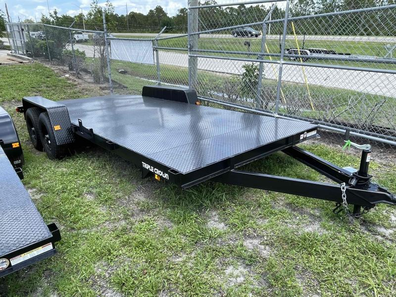 2021 Triple Crown Trailers 7' x 18' 10k Car Hauler Steel Deck