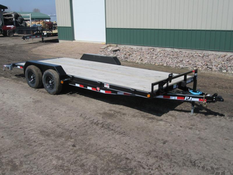 "2021 PJ 18'x5"" 10k Channel Equipment Trailer"