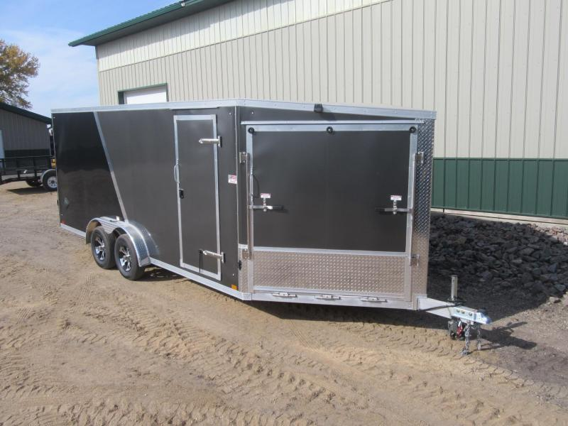 2022 7.5'x23' Discovery Aluminum Enclosed Snowmobile Trailer