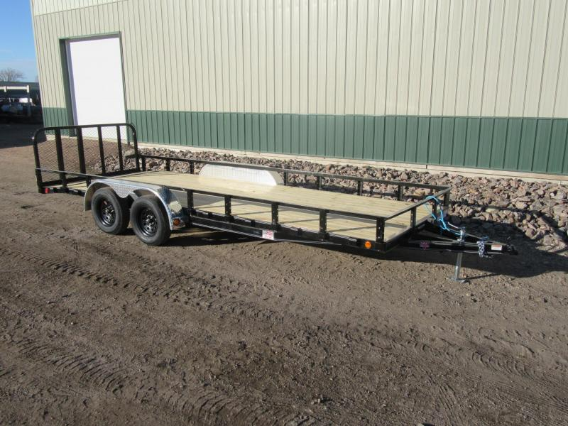 "2021 PJ 20' x 83"" Tandem Channel Utility Trailer"