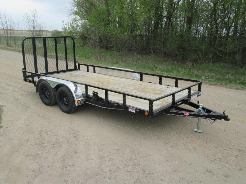 "2020 PJ 16'x83"" Channel Utility Trailer"