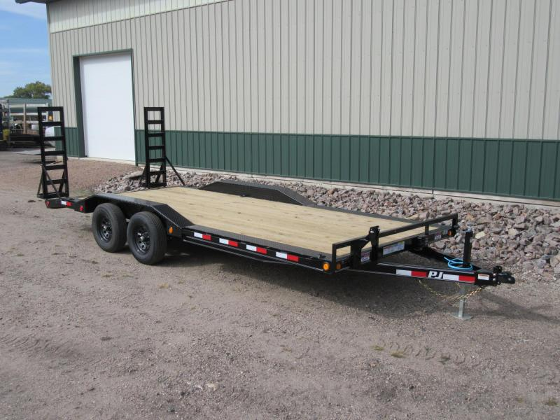 "2021 PJ 20'x5"" Channel Super-Wide Trailer"