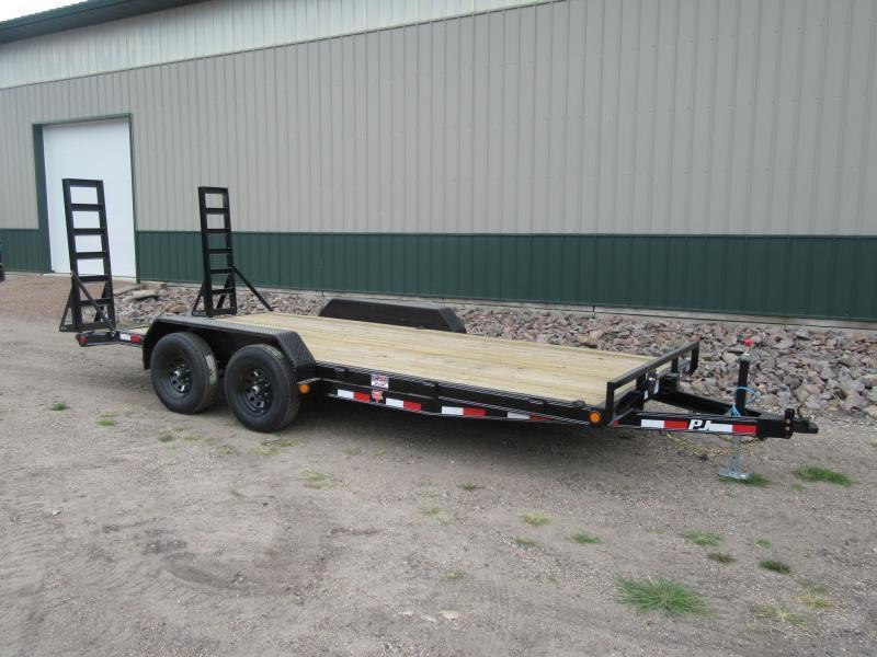 "2021 PJ 18'x5"" Channel Equipment Trailer"