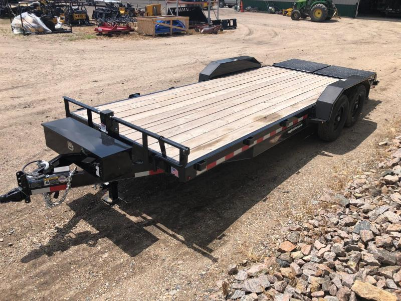 2018 H and H 82x16+4 (20ft) Super Deluxe Ramp Equipment Trailer
