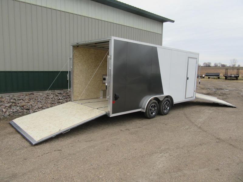 2021 7.5'x23' EZ Hauler Aluminum Enclosed Snowmobile Trailer