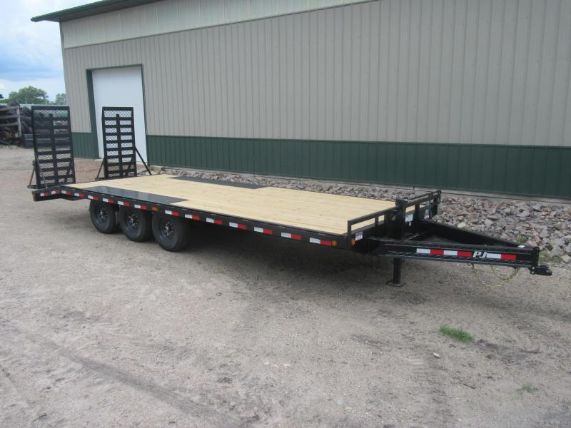 "2021 PJ 24'x8"" I-Beam Deckover Trailer - Triple Axle"