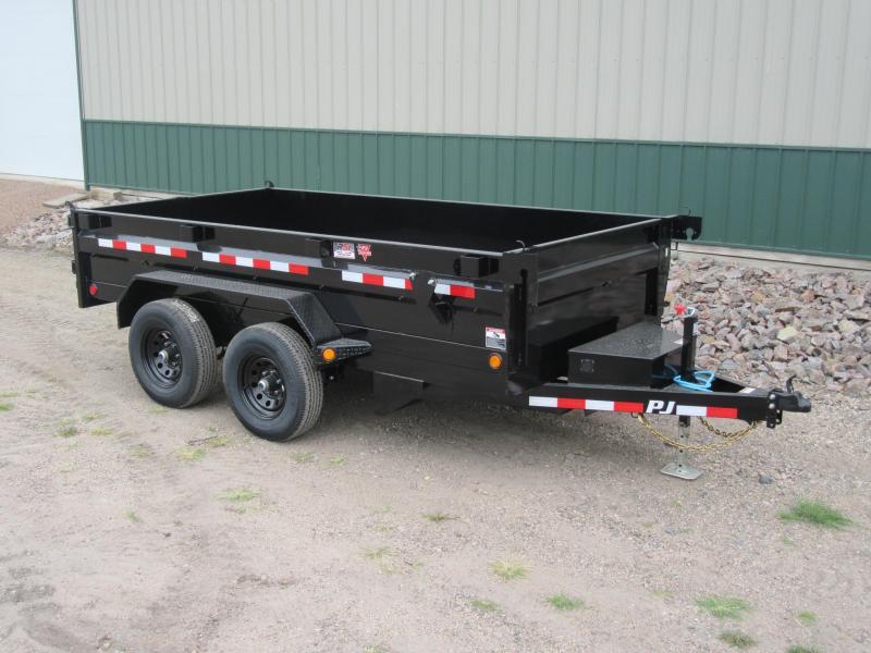 "2021 PJ 12'x72"" 10k Tandem Axle Dump Trailer"