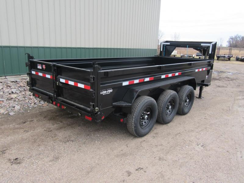 2021 PJ 16' Low-Pro Gooseneck Dump Trailer