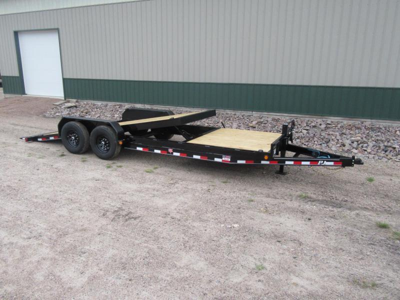 "2021 PJ 22'x6"" Channel Equipment Tilt Trailer"