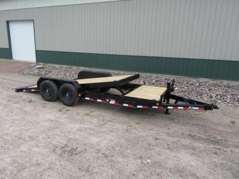 "2021 PJ 20'x6"" Channel Equipment Tilt Trailer"