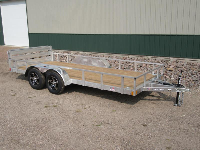 New 2021 Stealth 6.5x'16' Tandem Aluminum Utility Trailer