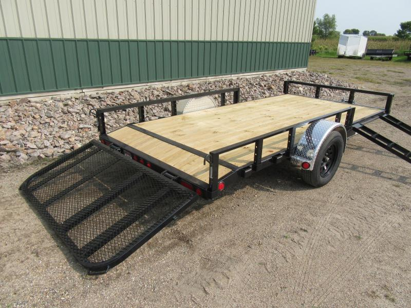 "2021 PJ  14' x 77"" Channel Utility Trailer"