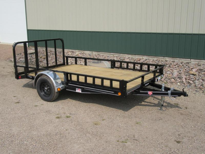 "2021 PJ 12'x83"" Channel  Utility Trailer 5200lb Axle"
