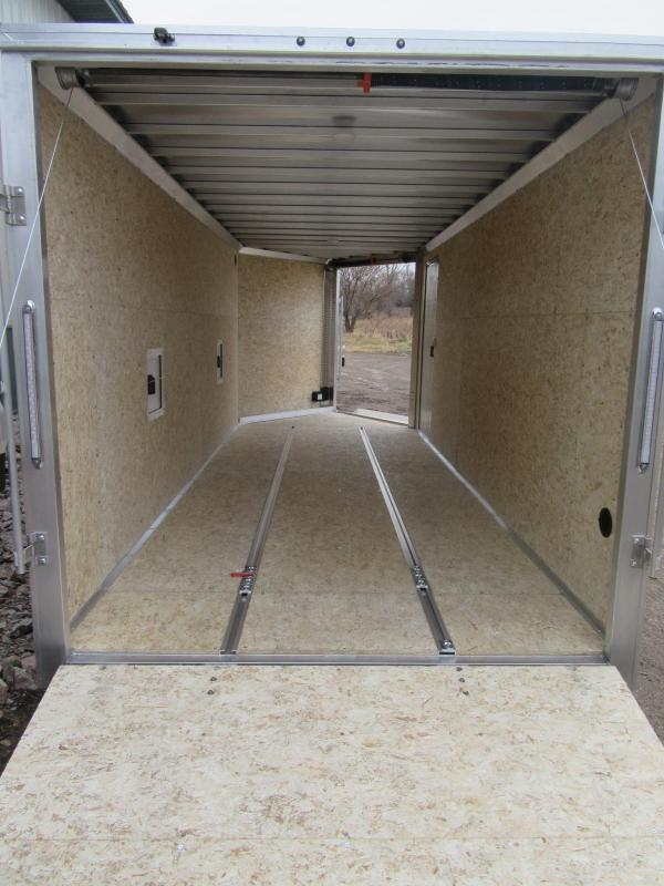 2021  7'x23'  EZ Hauler Aluminum Enclosed Snowmobile Trailer