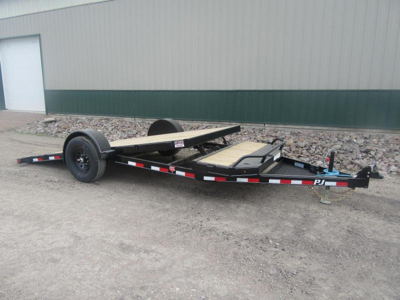 2021 PJ 16' Single Axle HD Tilt Trailer