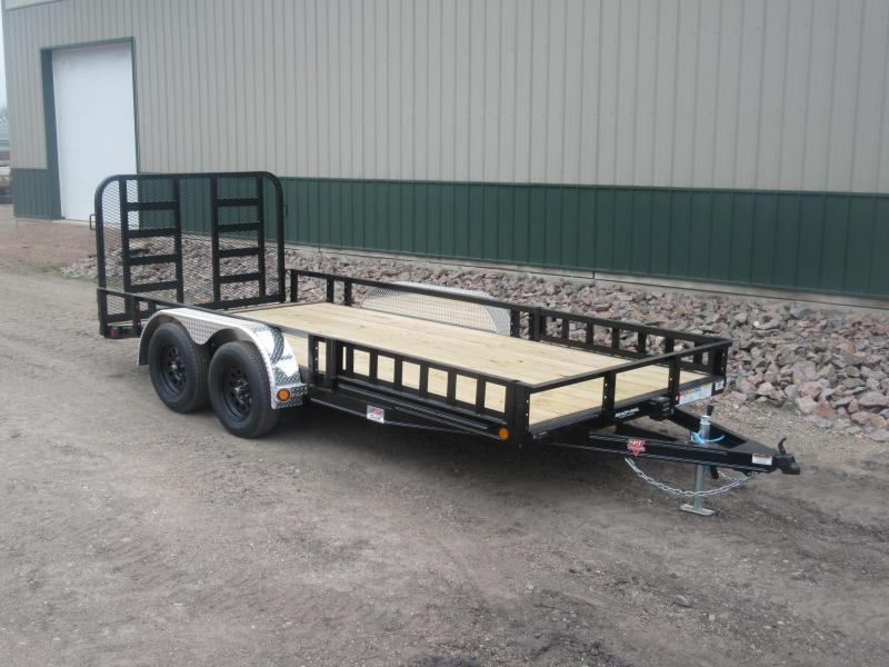"2021 PJ 16'x77"" Tandem Utility Trailer - HD Gate"