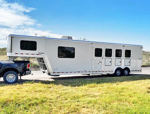 2008 Kiefer Built 4 Horse Living Quarter Horse Trailer