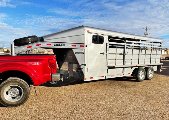 2021 Delco Trailers Stock Trailers Livestock Trailer
