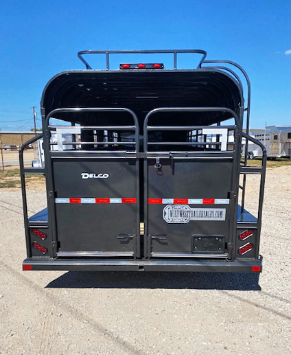 2021 Characoal 26' Smart Tack Delco Stock Trailer