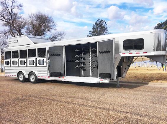 2020 6 Horse Cimarron Smart Tack Horse Trailer