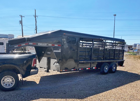2021 Charcoal 20' Delco Stock Trailer