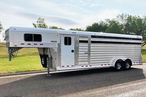 2020 4-Star 4 Horse Cowboy Tack Horse Trailer