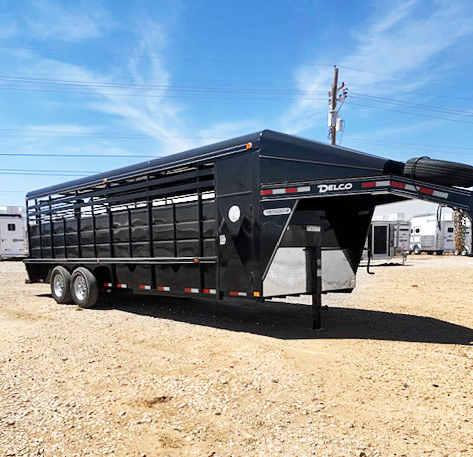 2021 Black 24' Delco Stock Trailer