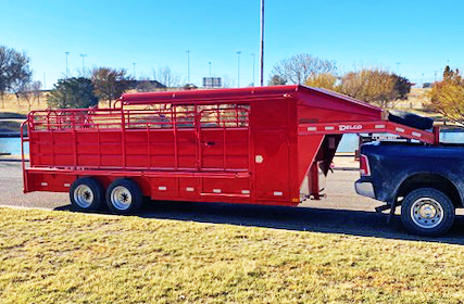 2020 Red 20' Delco Stock Trailer