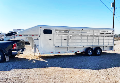 2020 White 24' Delco Stock Trailer