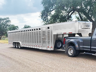 2020 EBY Punch Side 36' Stock Trailer