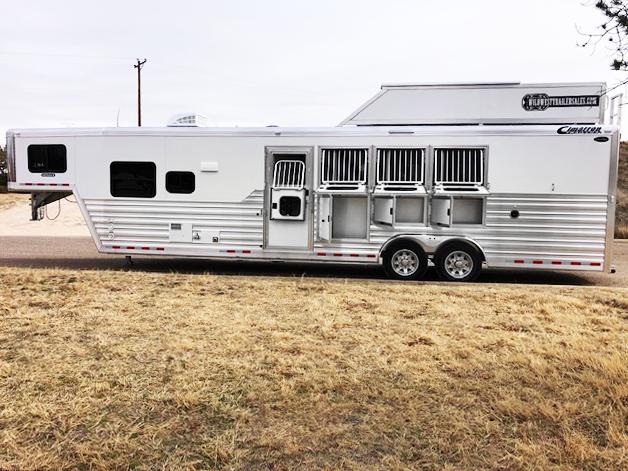 2020 Cimarron 4 Horse Living Quarters Trailer