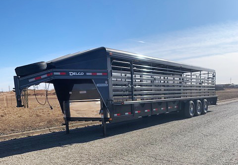 2021 Charcoal 32' Delco Stock Trailer