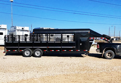 2020 Black 24' Delco Premium Stock Trailer